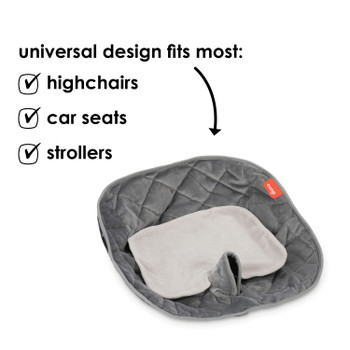 Ultra Dry Seat Deluxe Car Seat and Stroller Protector and Cushion is compatible with car seats, highchairs and strollers [Gray]