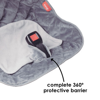 Ultra Dry Seat Deluxe Car Seat and Stroller Protector and Cushion includes complete 360-degree protective barrier [Gray]