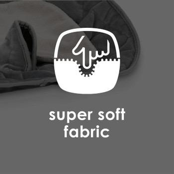 Ultra Dry Seat Deluxe Car Seat and Stroller Protector and Cushion made with super soft fabrics [Gray]