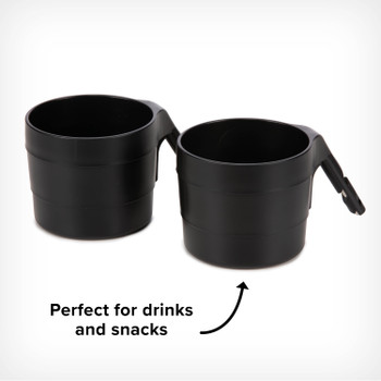 Diono XL Cup Holders for Radian and Everett NXT (Pack of 2) - Perfect for both snacks and drinks [Black]