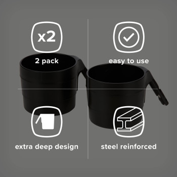 Diono XL Cup Holders for Radian and Everett NXT (Pack of 2) [Black]