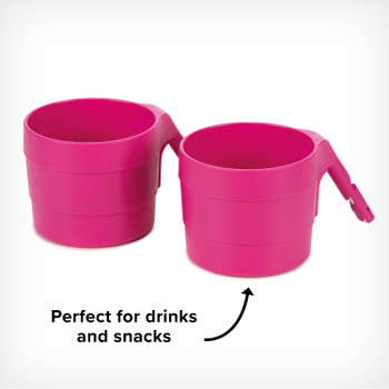 Diono XL Cup Holders for Radian and Everett NXT (Pack of 2) - Perfect for both snacks and drinks [Purple Plum]