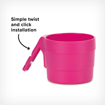 Diono XL Cup Holders for Radian and Everett NXT (Pack of 2) - Simple click and twist installation [Purple Plum]