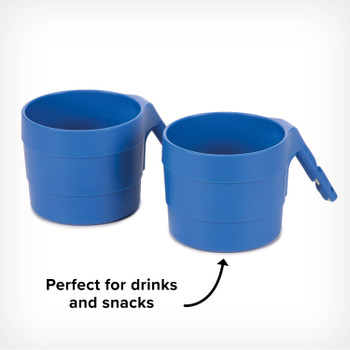 Diono XL Cup Holders for Radian and Everett NXT (Pack of 2) - Perfect for both snacks and drinks [Blue Sky]