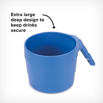 Diono XL Cup Holders for Radian and Everett NXT (Pack of 2) - Extra large deep design to keep drinks secure [Blue Sky]