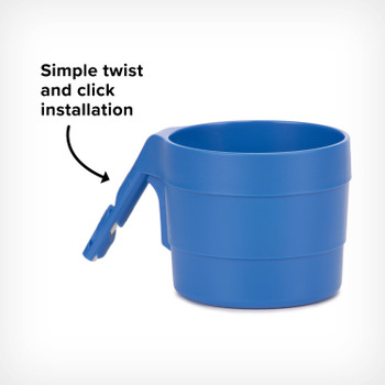 Diono XL Cup Holders for Radian and Everett NXT (Pack of 2) - Simple click and twist installation [Blue Sky]