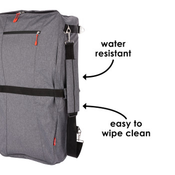 Diono Car Seat Travel Backpack is water resistant and easy to wipe clean [Gray]