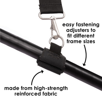 Diono Carry Strap has easy fastening adjusters to fit different frame sizes and is made from high-strength reinforced fabrics for durability [Gray]