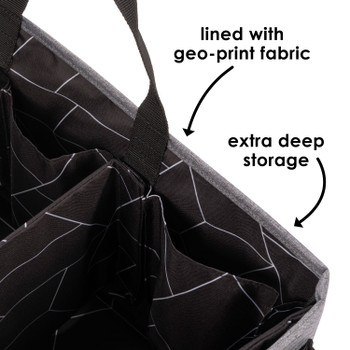 Diono Travel Pal XL is lined with geo print fabric with extra deep storage [Gray]