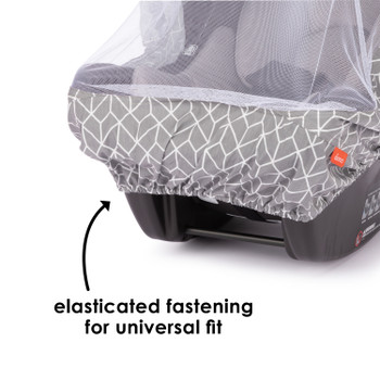Infant Car Seat Cover has elasticated fastening for universal fit [Gray]