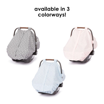 Infant Car Seat Cover comes in 3 colors; grey, pink or blue [Gray] [Pink] [Blue]