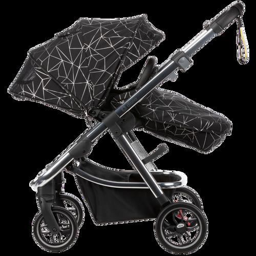 Excurze luxe full size stroller Black Platinum [Black Platinum]