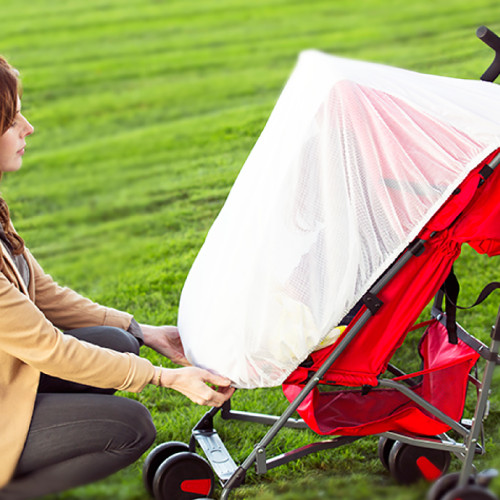 Diono Stroller Sun Net, Stroller Sun Shade, Universal Fit, Perfect For All Strollers, Car Seats, Baby Carriers [White]