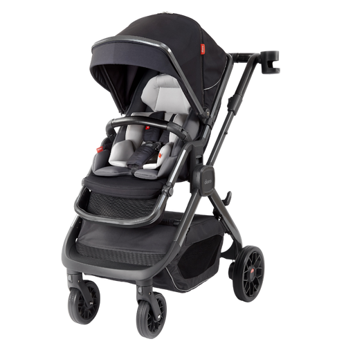 Quantum 2 Stroller, 3-in-1 Multi-mode stroller and travel system suitable from birth [Black Cube]