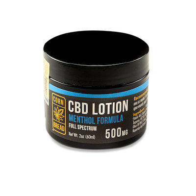 CBD Lotion with Menthol for Pain Relief from Cornbread Hemp