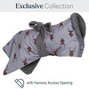 Stag Dogrobe with a harness access opening  from the Exclusive Collection - for dogs who wear harnesses