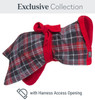 Tartan Dogrobe from the Exclusive Collection with Harness Access Opening