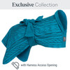 Knit Dogrobe Exclusive Collection with Harness Access Opening