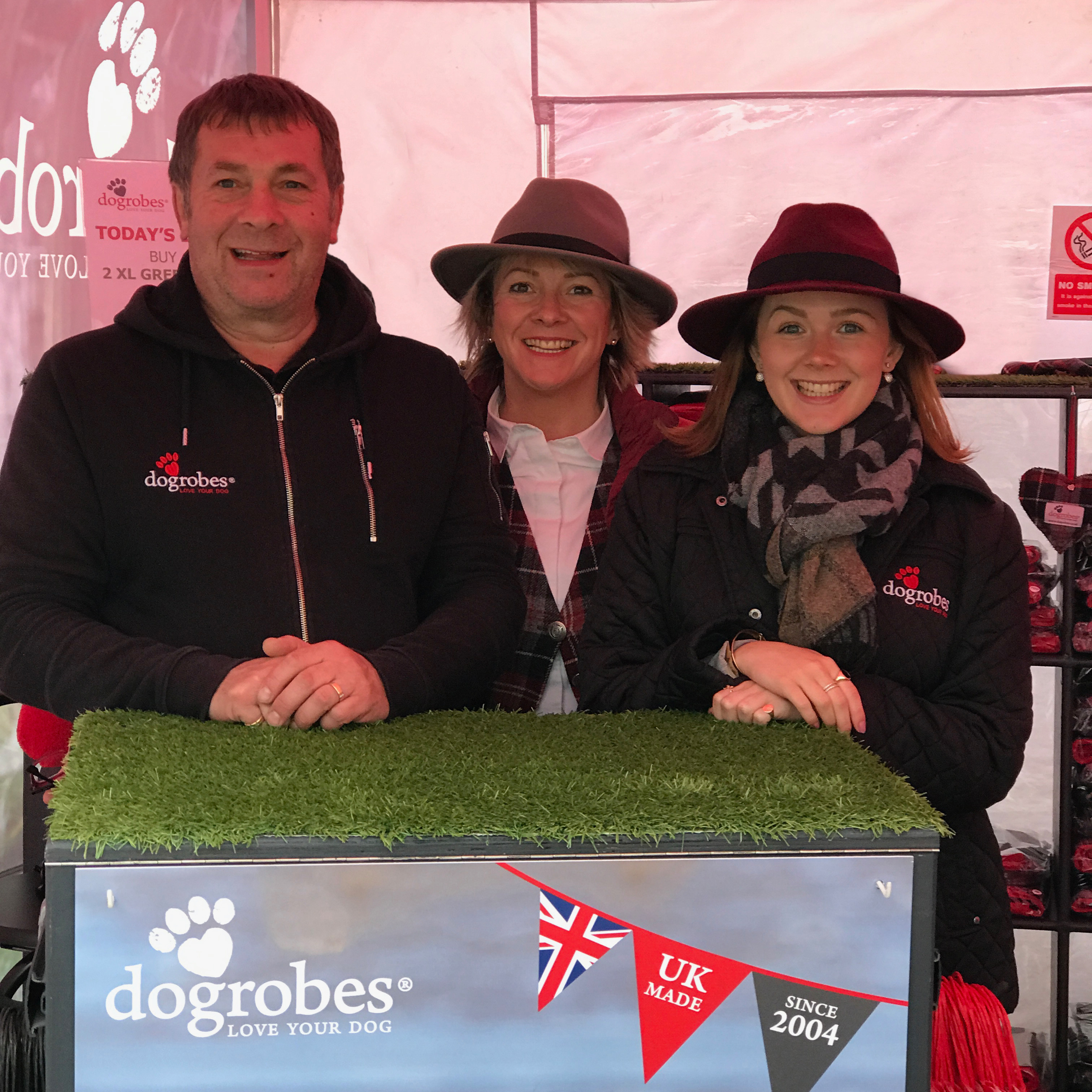 Martin, Margaret and Nicola Reynolds at an event with Dogrobes
