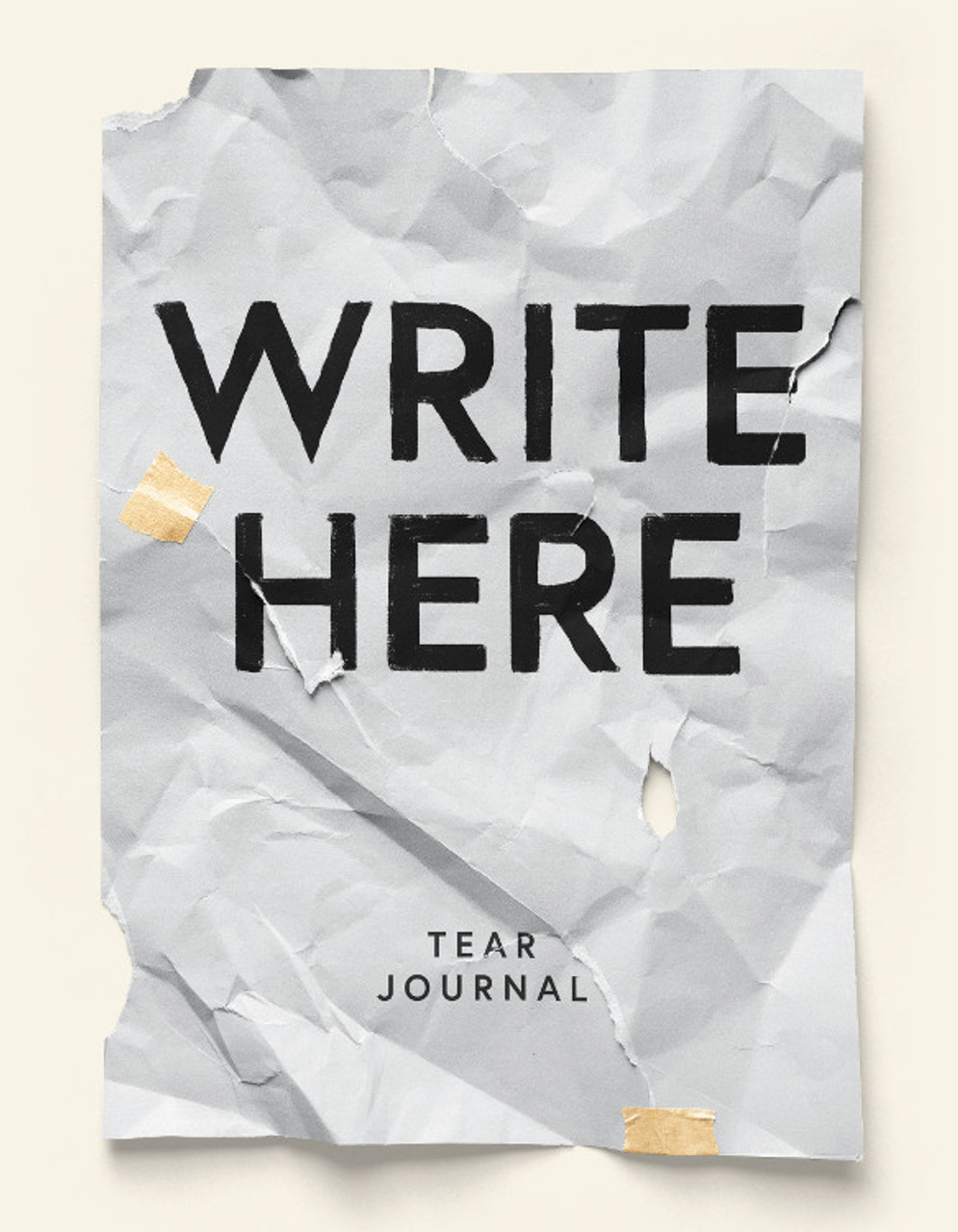 Write Here & Tear Journal, 200 Perforated Pages, Hardcover Notebook, 6x8.5 Easy Tear Pages