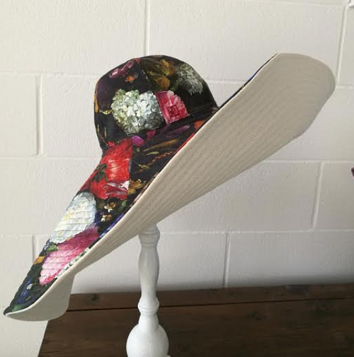 Wide brim Summer Floral Hat
