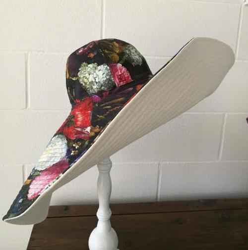 Wide brim Summer Floral Hat