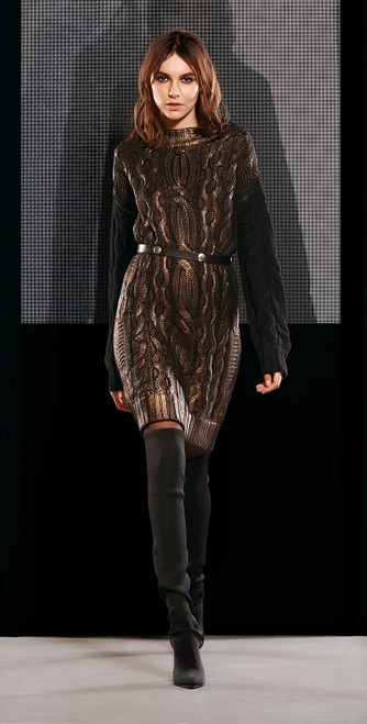 Jijil Collection Cable Knit Sweater Dress