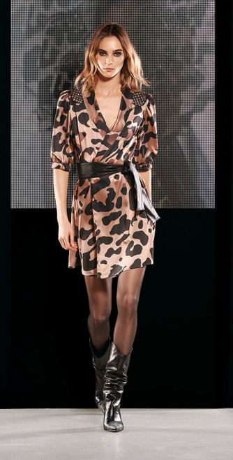 Jijil Collection Leopard Print Cocktail Dress