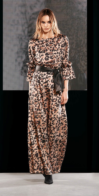 Jijil Collection Leopard Print Long Dress