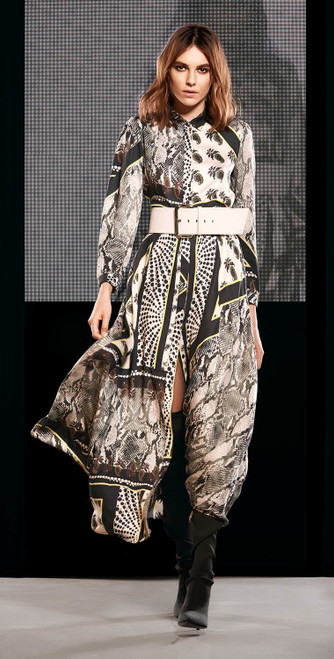 Jijil Collection Python Print Long Dress