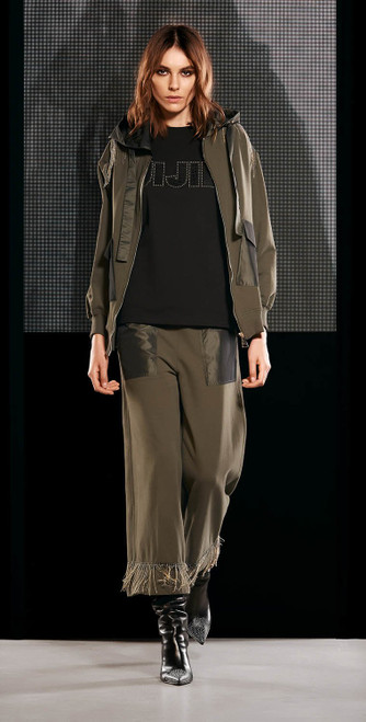 Jijil Collection Military Green Trousers