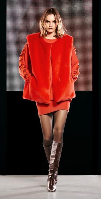 Jijil Collection Faux Fur Vest