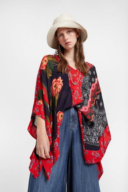 Patchwork Poncho Blouse