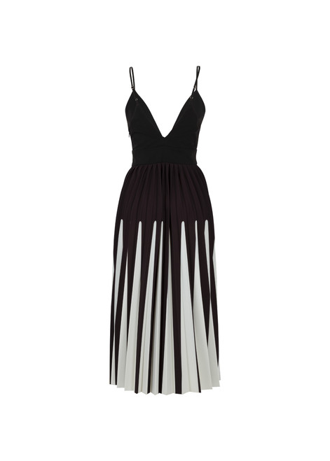 Jijil Collection Black and White Spaghetti Strap Dress