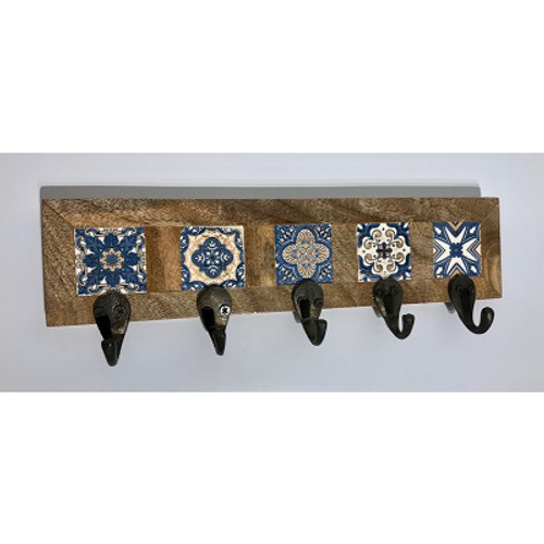 Azulejos 5-Hook Wall Rack