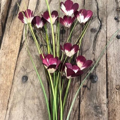 6 Stem Poppy Flower Branches
