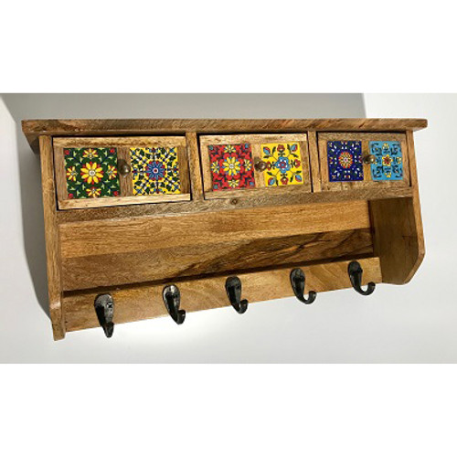 Fiesta 3-Drawer Wall Hook Cabinet