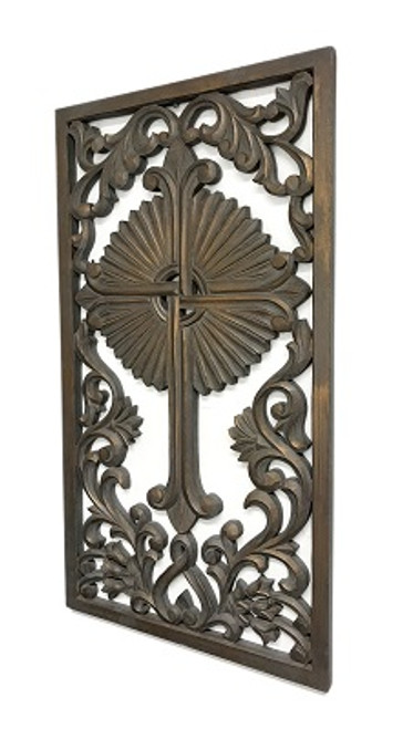 Hand Carved Gaelic Cross Wall Grill