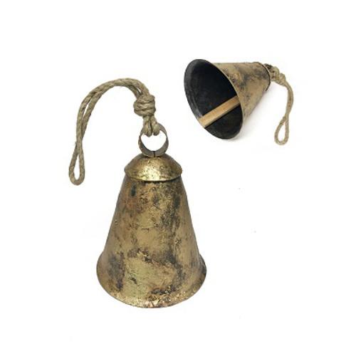 Prairie Cow Bell Antq Gold