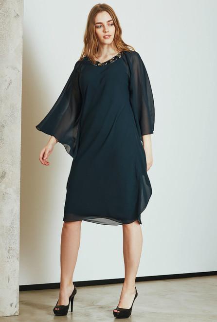 Teal Vanity dress