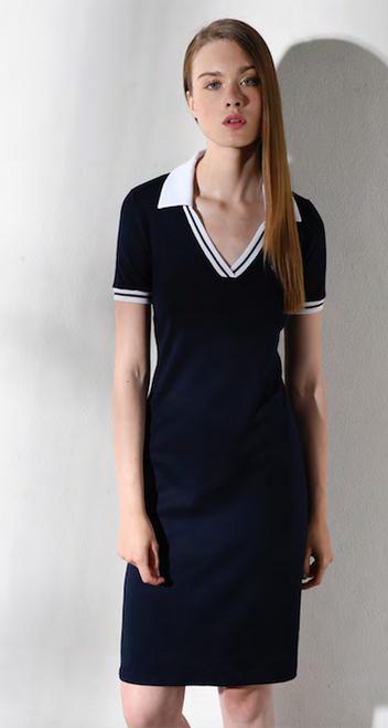 Black with white trim sports dress