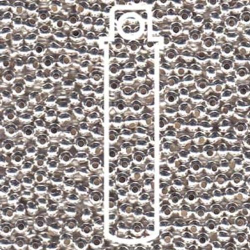 Metal Seed Beads 6/0 Silver Plate 30 grams