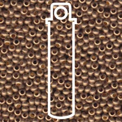 Metal Seed Beads 6/0 Gilding Matte 28 grams