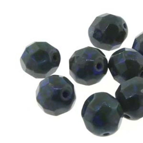 Czech Fire Polished Faceted Round Beads ROYAL TRAVERTINE 8mm [20 pcs/strand]