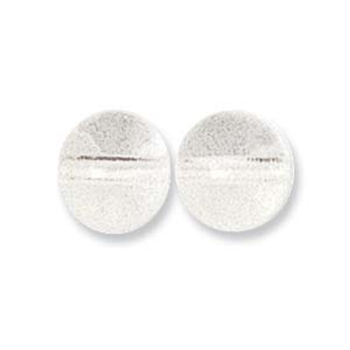 Czech Pressed Round Glass Beads CRYSTAL 6mm [50 pcs/strand]