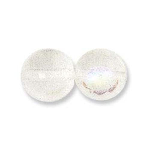 Czech Pressed Round Glass Beads CRYSTAL AB 6mm [50 pcs/strand]