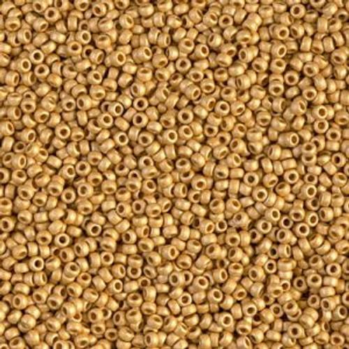 Miyuki Seed Beads 15-94202F Duracoat Matte Gold 8.2 grams