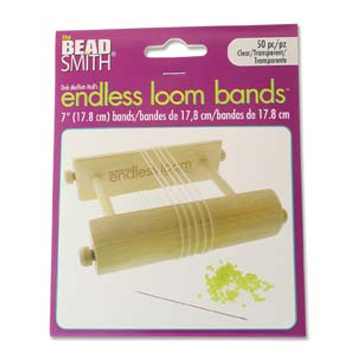 "Endless Loom Bands 7""/17.8cm, Clear [50 pcs]"