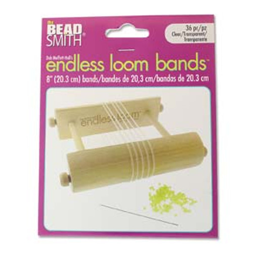 "Endless Loom Bands 8""/20.3cm, Clear [36 pcs]"