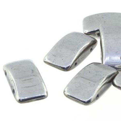 Czech Glass 2-hole Carrier Beads 9x17mm, LABRADOR [15 bds/strand]